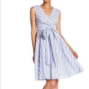 NWT! Calvin Klein striped cotton dress size 2